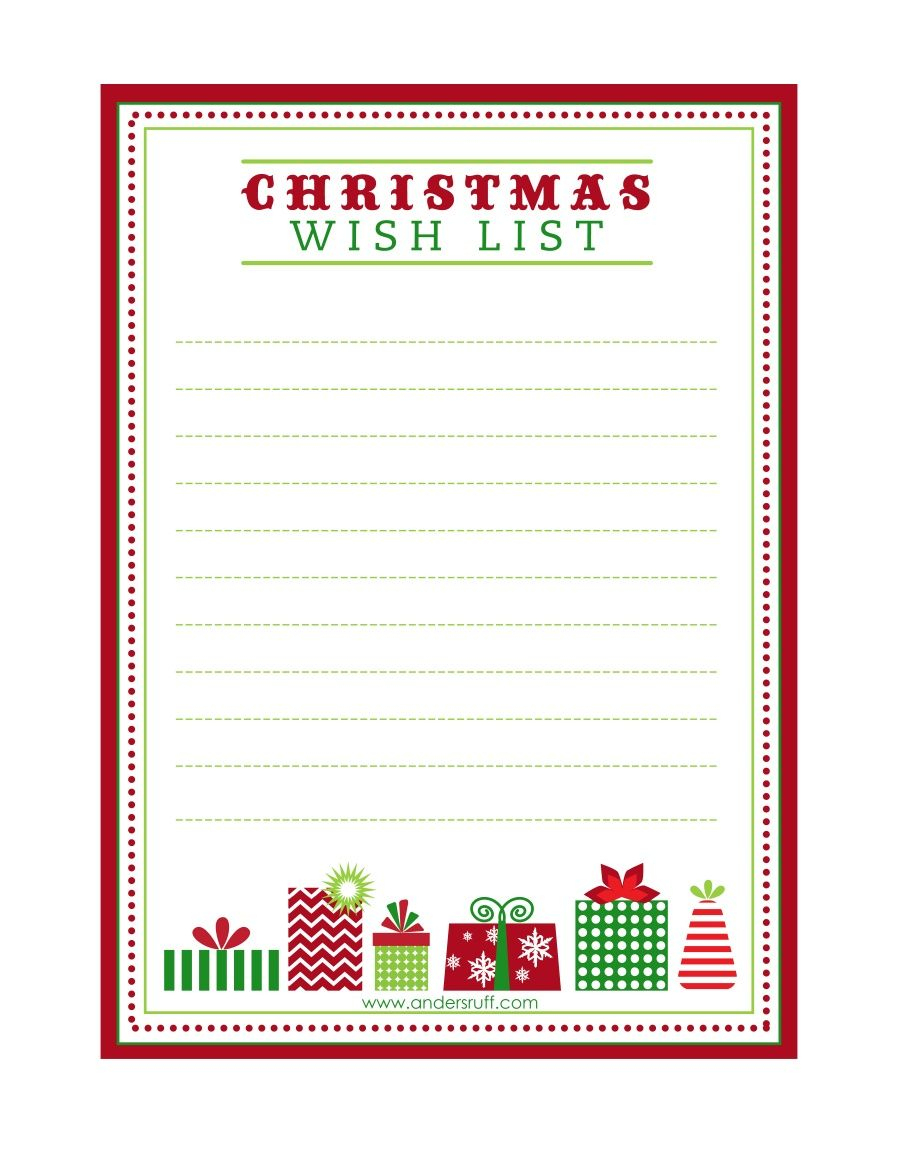 "Free Printable ""letter To Santa"", ""christmas Wish List"" And Tag - Free Printable Christmas Wish List"