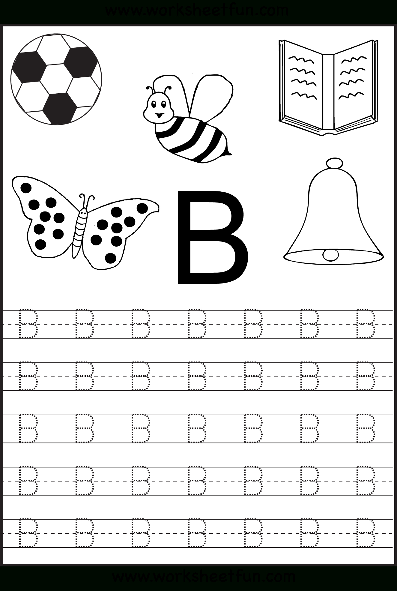 Free Printable Letter Tracing Worksheets For Kindergarten – 26 - Free Printable Letters And Numbers