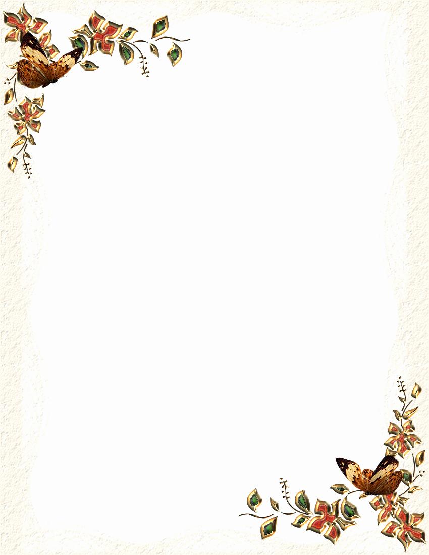 Free Printable Letterhead Borders 7 Best Images Of Free Fall - Free Printable Stationary Borders