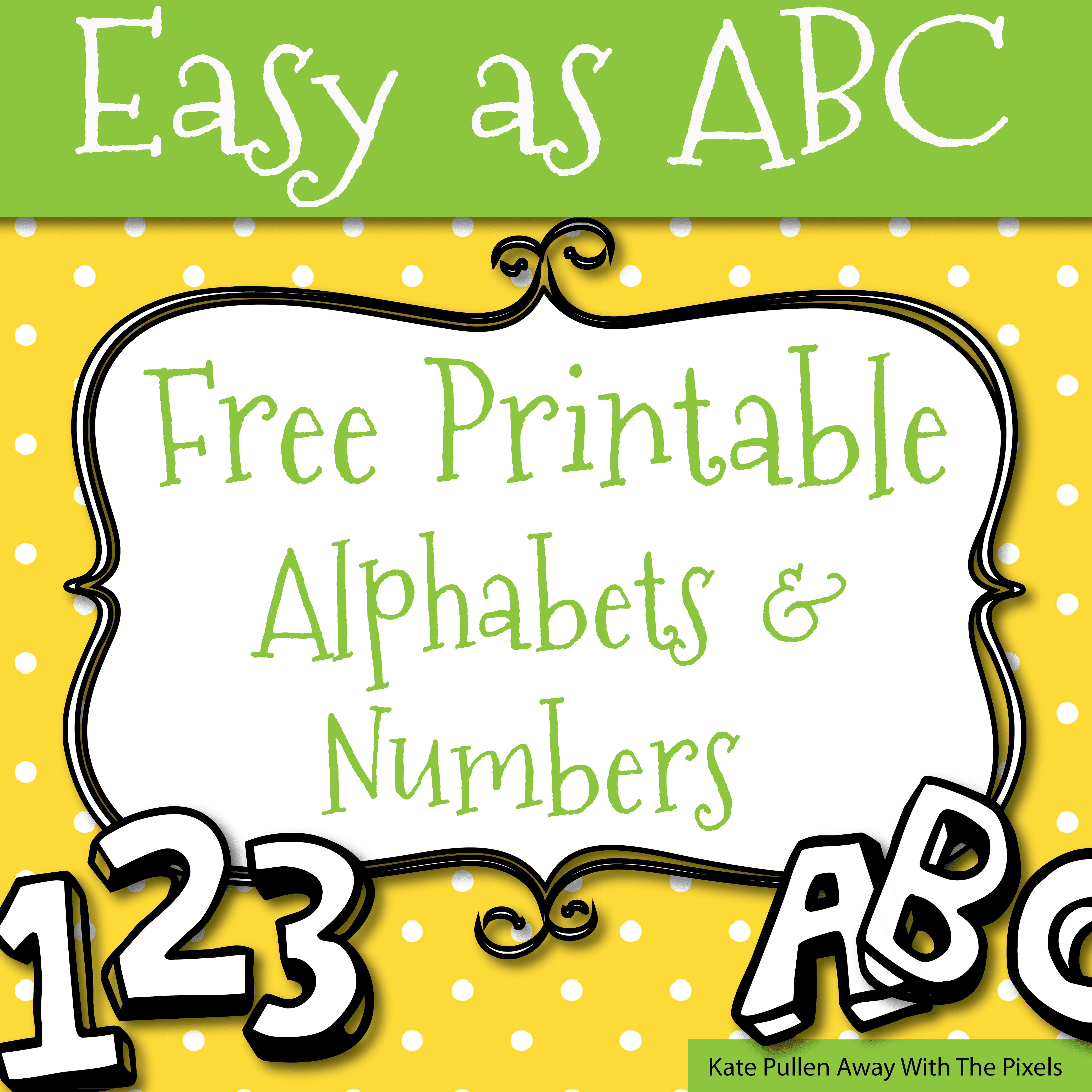 Free Printable Letters And Numbers For Crafts - Free Printable Alphabet Letters