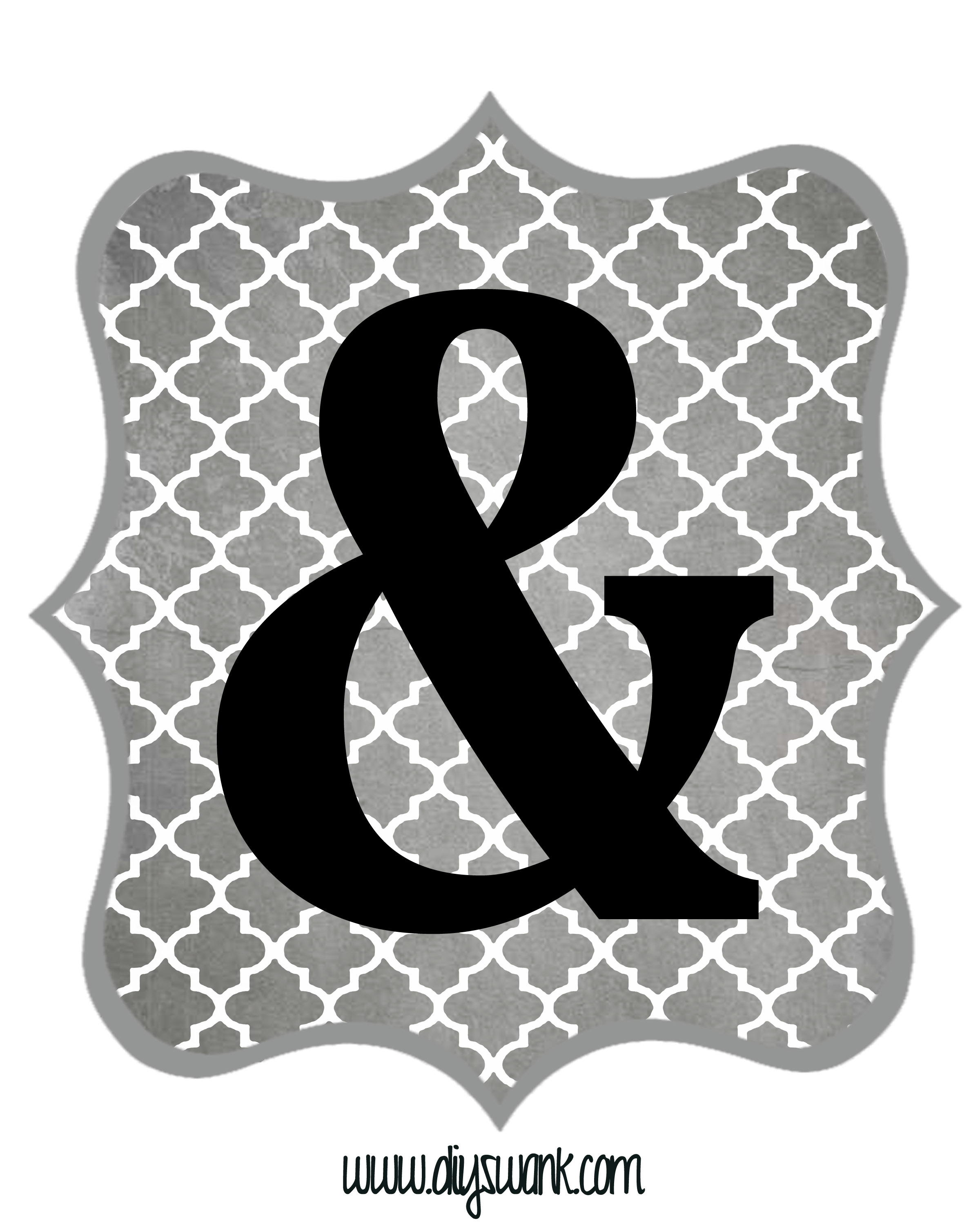 Free Printable Letters Gray And Black | Diy Swank - Diy Swank Free Printable Letters