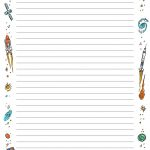 Free Printable Lined Paper With Borders #84840463006 – Free   Free Printable Writing Paper With Borders