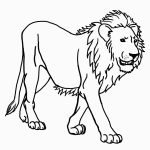 Free Printable Lion Coloring Pages For Kids For Lion Coloring Sheet   Free Printable Picture Of A Lion