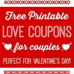 Free Printable Love Coupons For Couples On Valentine's Day! | Blog   Free Printable Coupons For Husband