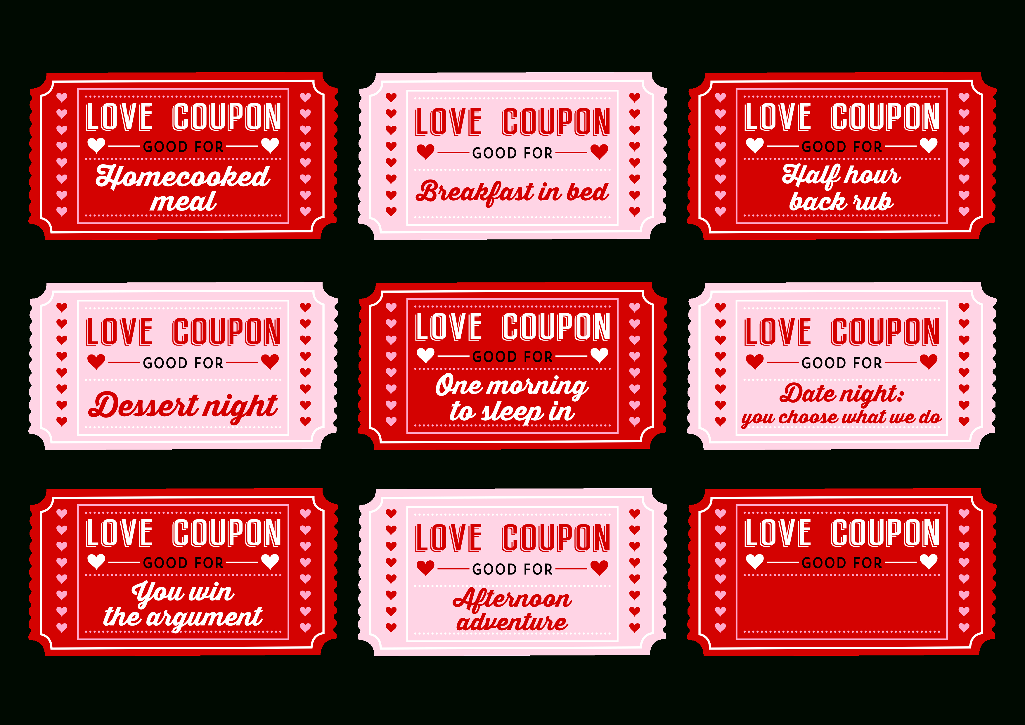 Free Printable Love Coupons For Couples On Valentine's Day! | Catch - Free Printable Love Coupons For Wife