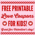 Free Printable Love Coupons For Kids On Valentine's Day   Free Printable Coupons For Husband