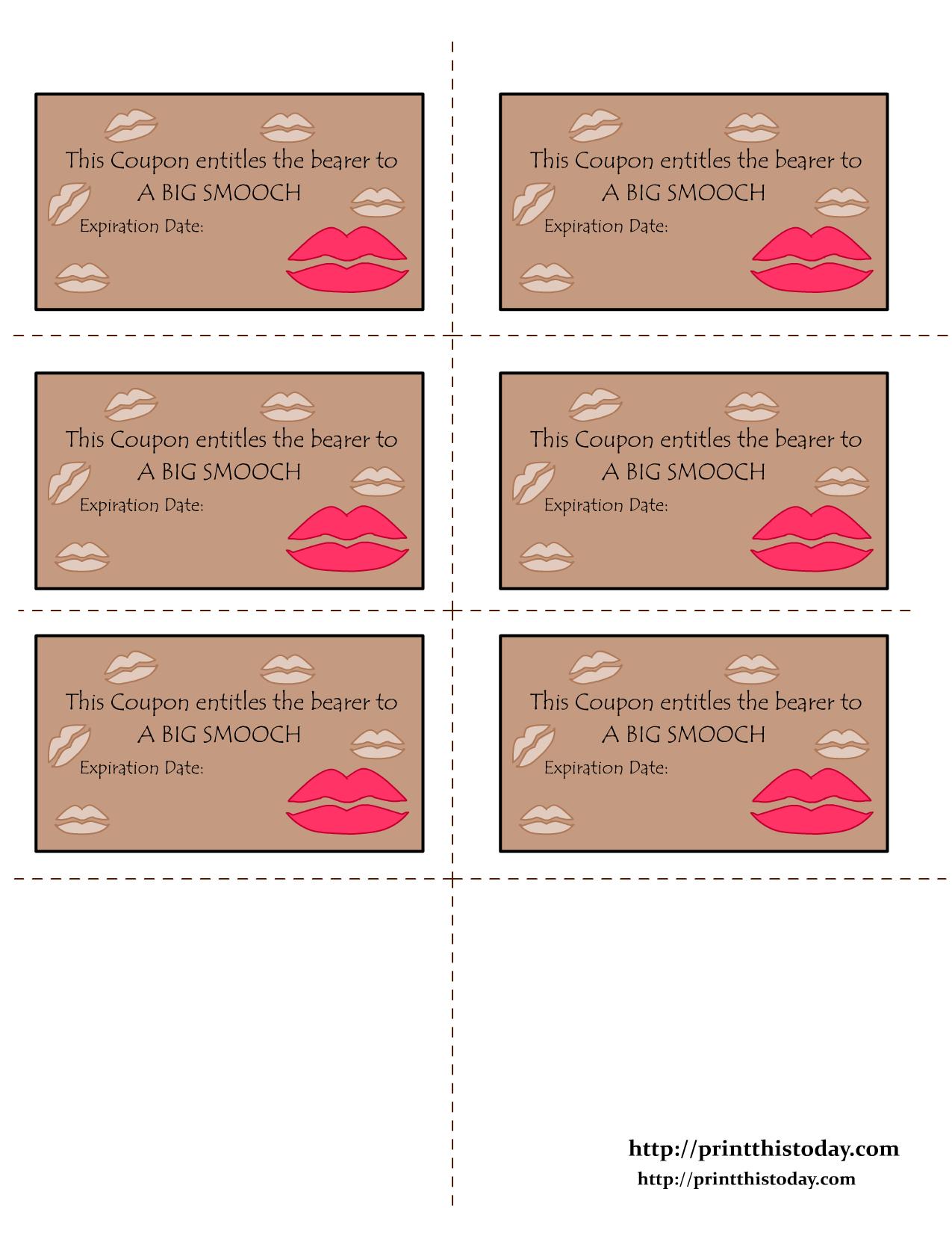 Free Printable Love Coupons - Free Printable Love Coupons