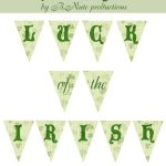 Free Printable Luck Of The Irish St. Patrick's Day Mini Bannerb   Free Printable St Patrick's Day Banner