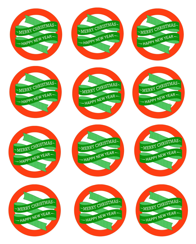 Free Printable Mason Jar Gift Labels - Merry Christmas & Happy New - Free Printable Jar Labels Christmas