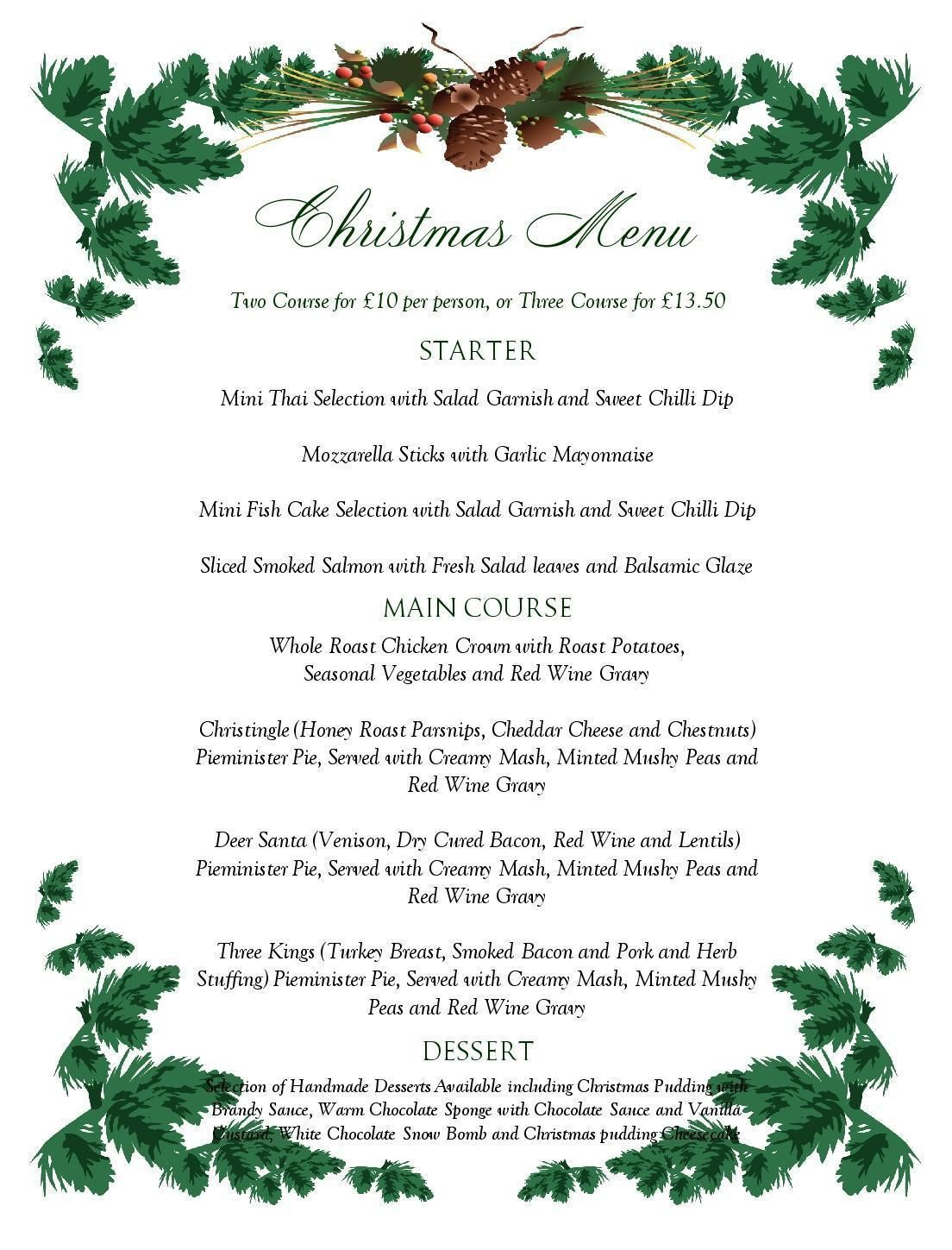 Free Printable Menu Templates Christmas Menu Templates Free Page Not - Free Printable Christmas Dinner Menu Template