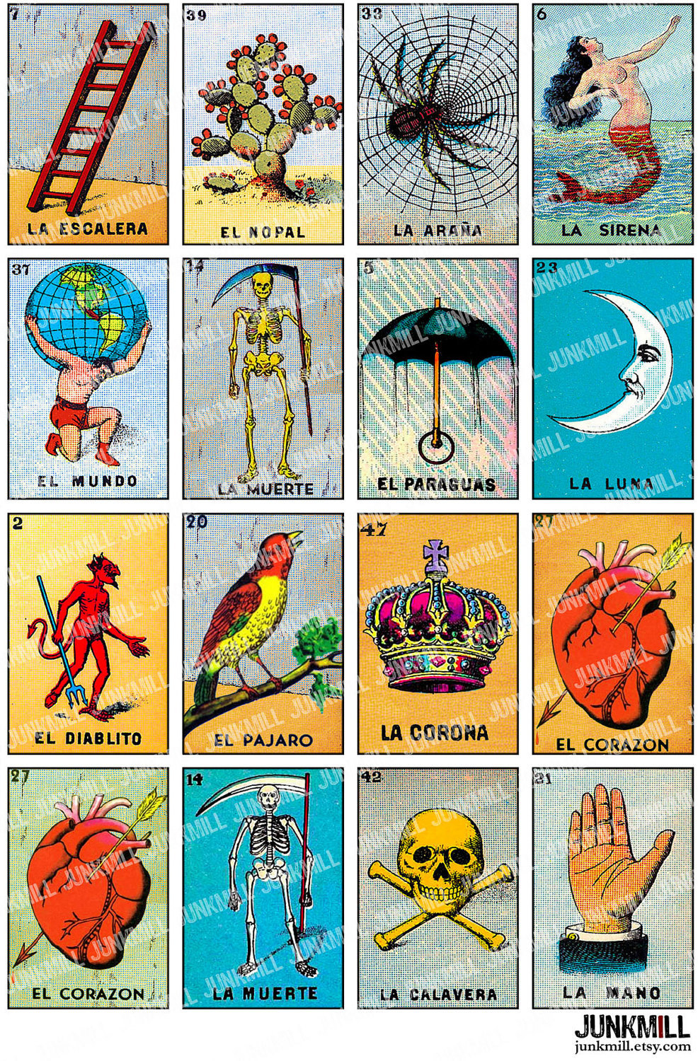 Free Printable Mexican Loteria Cards - Printable Cards - Free Printable Loteria Game