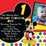 Free Printable Mickey Mouse 1St Birthday Invitations | Dozor   Free Printable Mickey Mouse Invitations