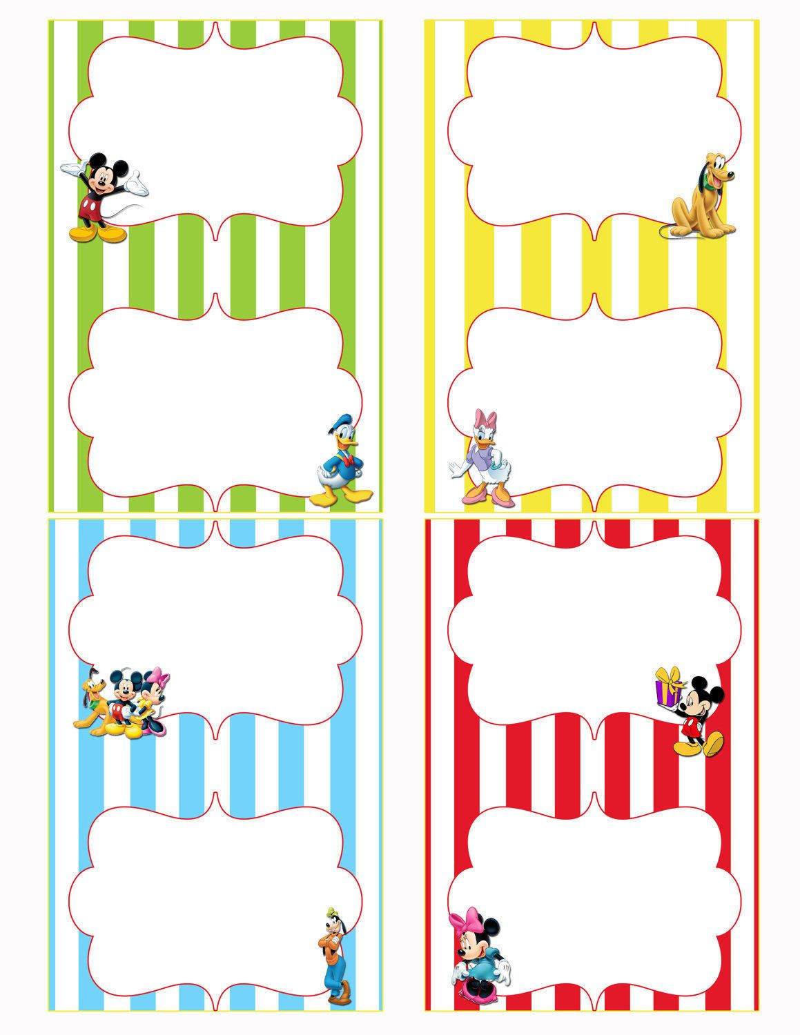 Free Printable Mickey Mouse Food Labels | Birthdays In 2019 - Free Printable Mickey Mouse Favor Tags