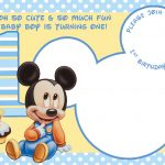 Free Printable Mickey Mouse Invitations   Exclusive | Free   Free Printable Mickey Mouse Birthday Invitations