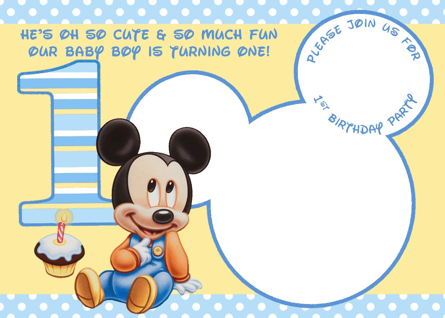 Free Printable Mickey Mouse Invitations - Exclusive | Free - Free Printable Mickey Mouse Invitations