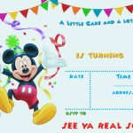 Free Printable Mickey Mouse Party Invitation | Free Printable   Free Printable Mickey Mouse Birthday Invitations