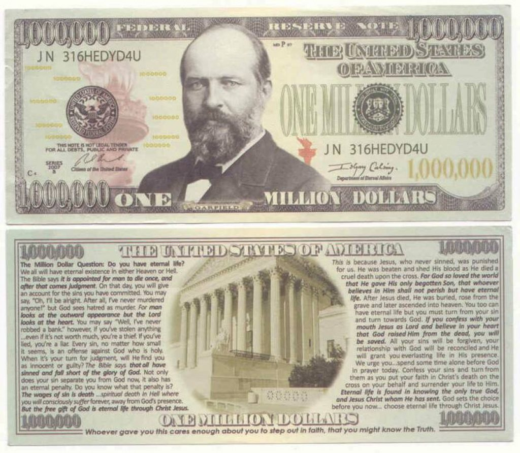 Free Printable Million Dollar Bill | Free Printable - Free Printable Million Dollar Bill