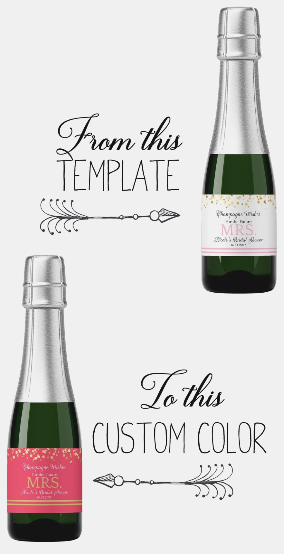 Free Printable Mini Champagne Bottle Labels Labels For Mini - Free Printable Mini Champagne Bottle Labels