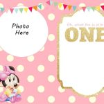Free Printable Minnie Mouse 1St Invitation | Free Printable   Free Printable Mickey Mouse Birthday Invitations