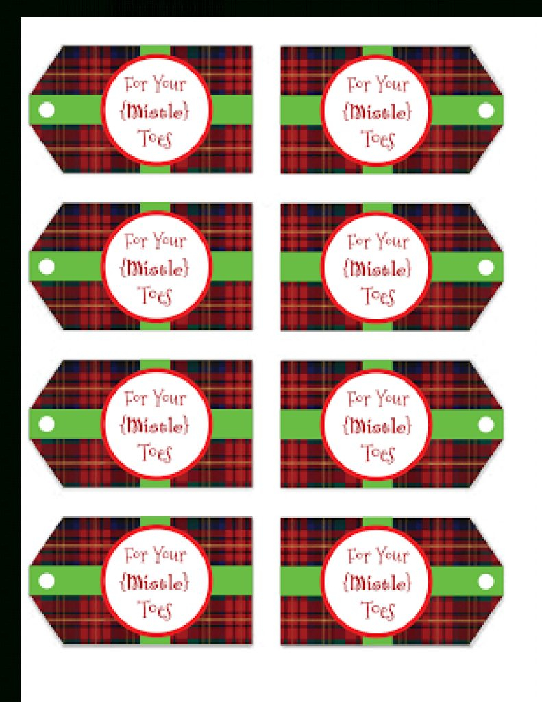 Free Printable Mistletoe Tags | Free Printable - Free Printable Mistletoe Tags