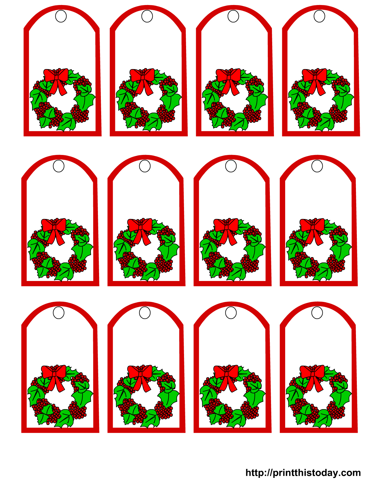 Free Printable Mistletoe Tags | The Tag Jinni! - Free Printable Mistletoe Tags