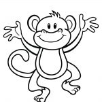 Free Printable Monkey Coloring Page | Cj 1St Birthday | Pinterest   Free Printable Monkey Coloring Pages