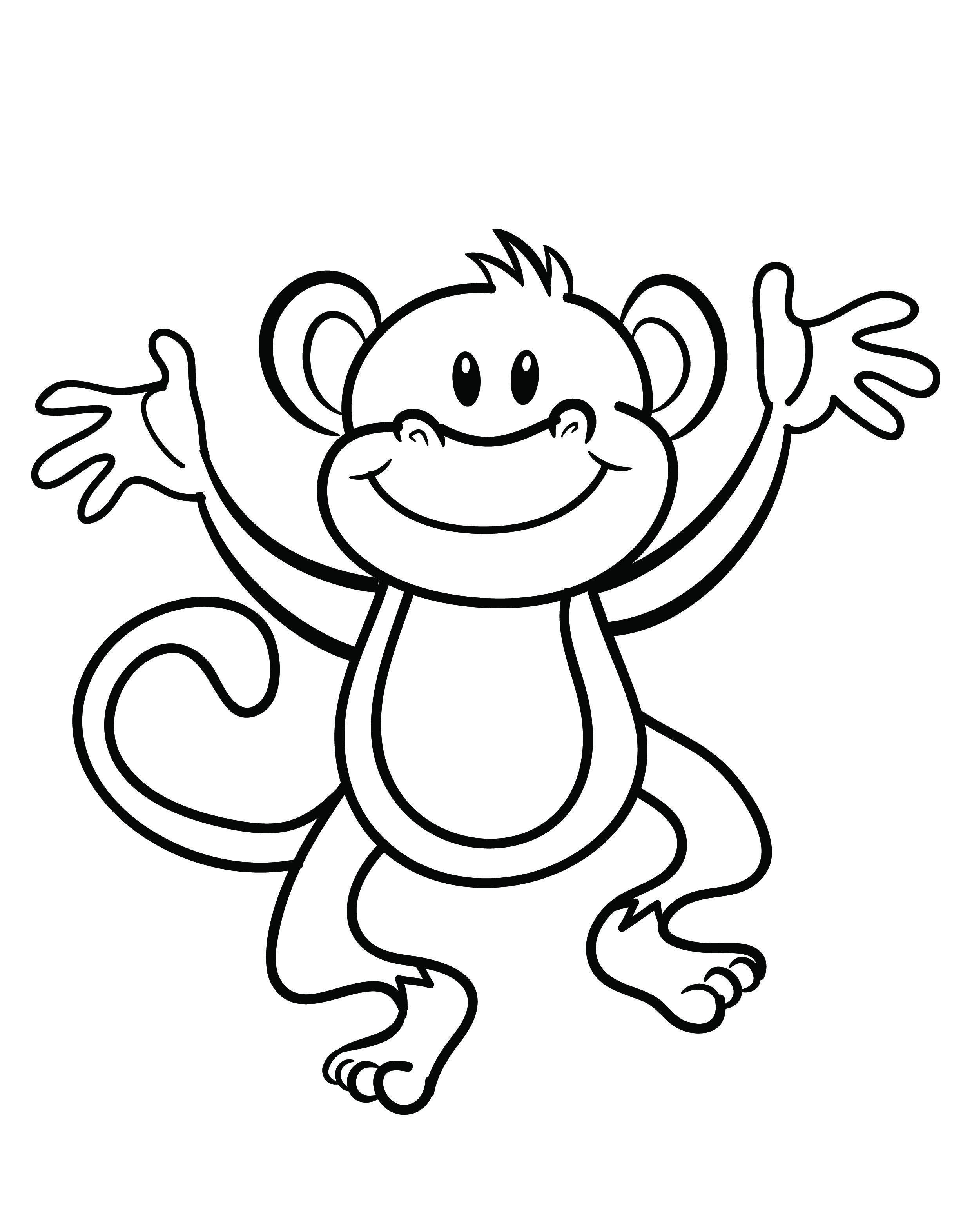 Free Printable Monkey Coloring Page | Cj 1St Birthday | Pinterest - Free Printable Monkey Coloring Sheets