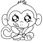 Free Printable Monkey Coloring Pages For Kids | Coloring Book   Free Printable Monkey Coloring Sheets