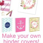 Free Printable Monogram Binder Covers From @chicfetti   Make Your Ow   Free Printable Monogram Binder Covers