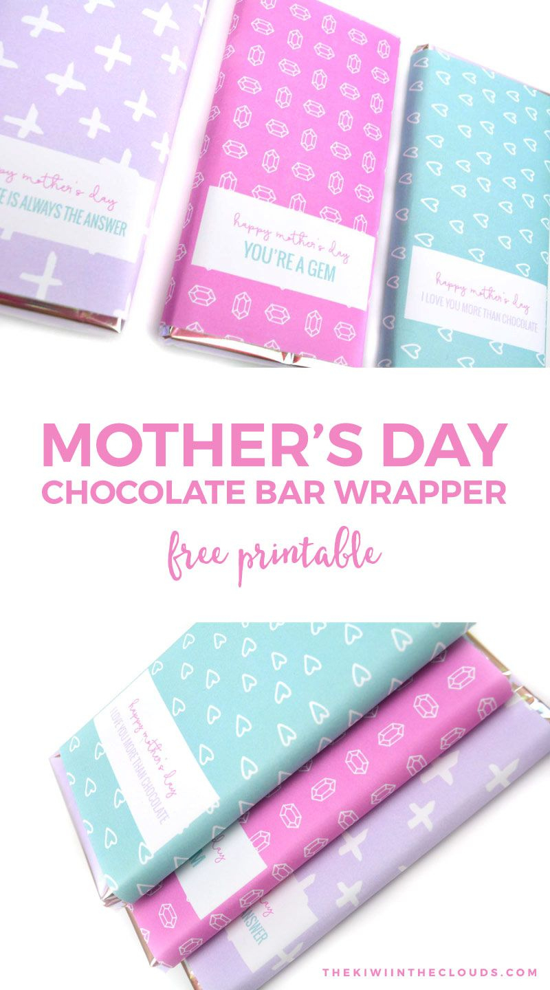 Free Printable Mothers Day Candy Bar Wrappers   Holidays   Candy Bar - Free Printable Chocolate Wrappers