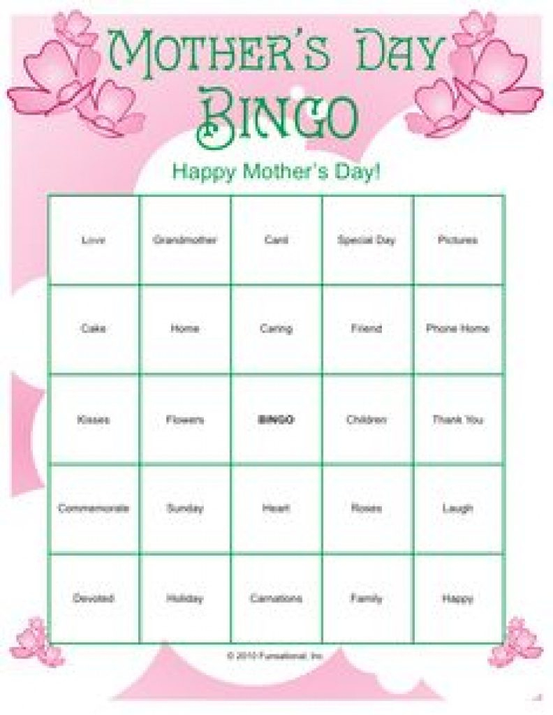 Free Printable Mother's Day Games | Free Printable - Free Printable Mother's Day Games