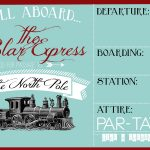 Free Printable Movie Tickets Template Polar Express Party Invitation   Free Polar Express Printable Tickets