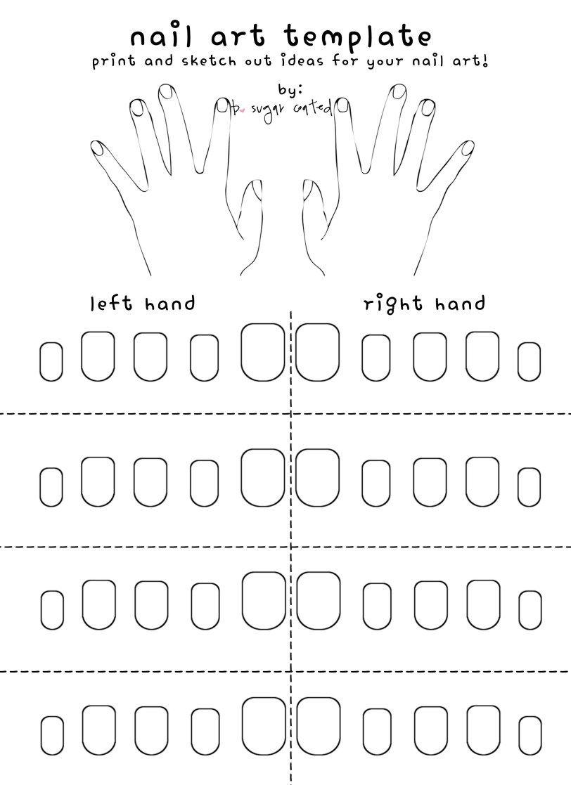 Free Printable Nail Art Template | Nails | Pinterest | Nail Art - Free Printable Nail Art Designs