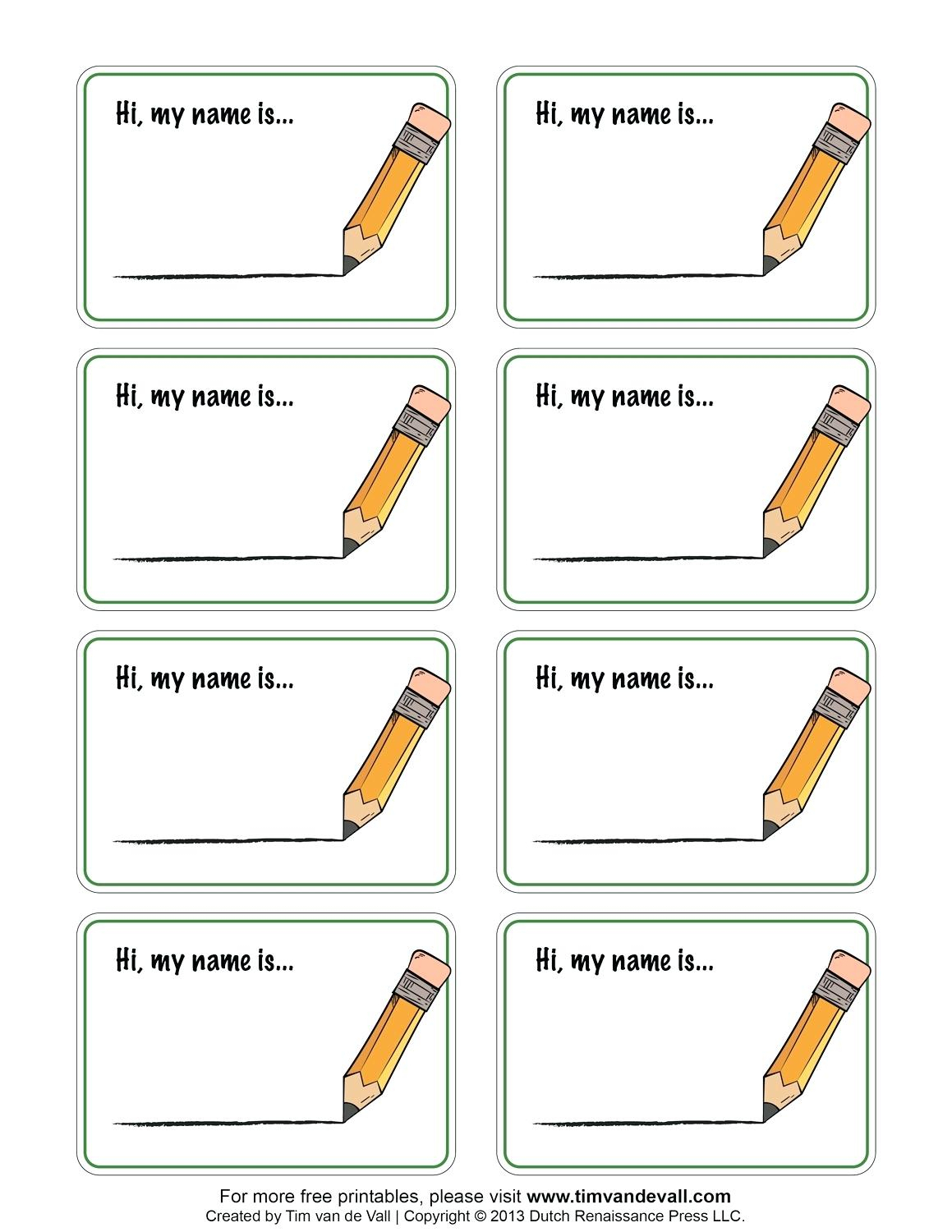 Free Printable Names Free Printable Name Tags Template Free - Free Printable Name Tags For Preschoolers