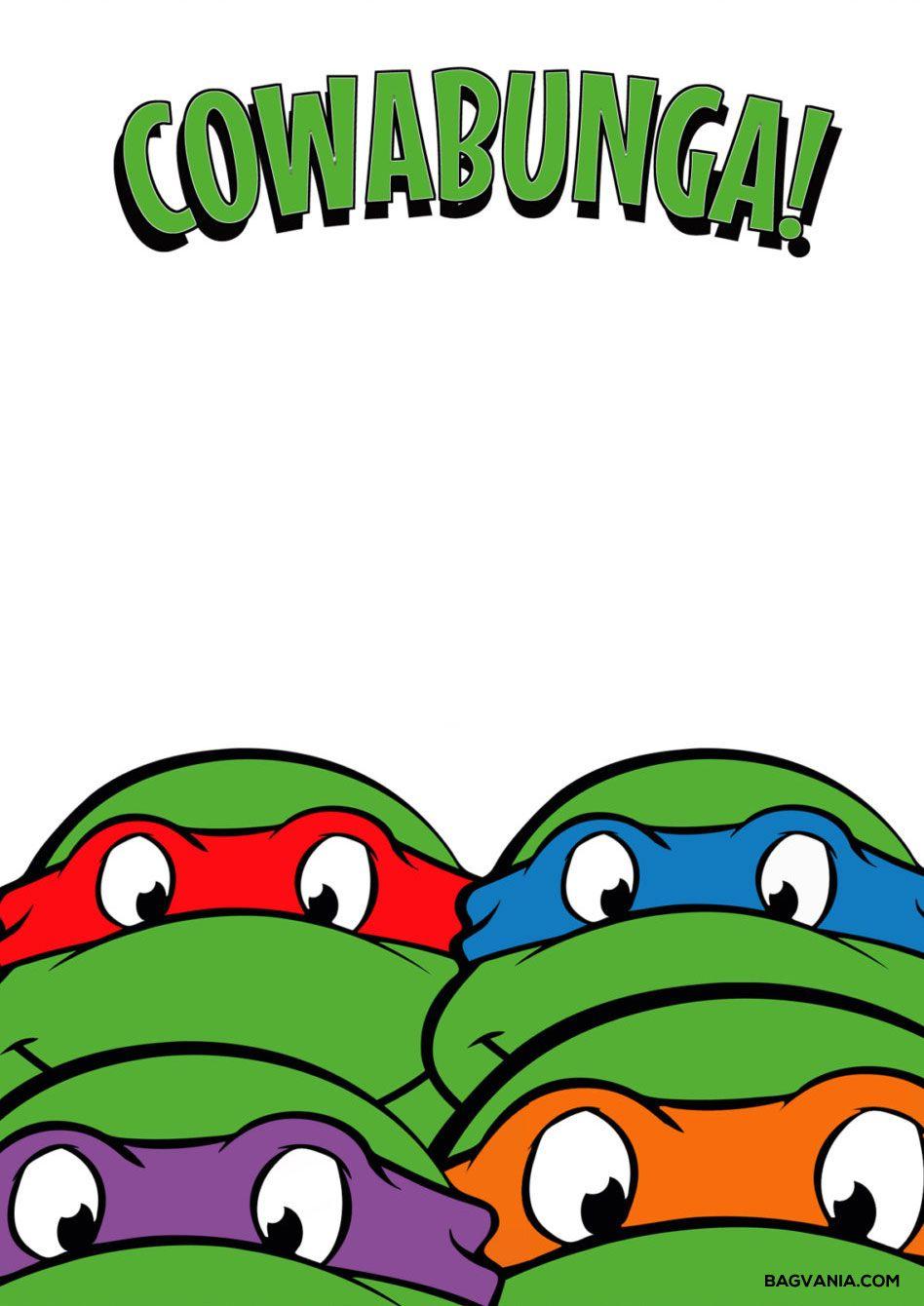 Free Printable Ninja Turtle Birthday Party Invitations – Bagvania - Free Printable Ninja Turtle Birthday Invitations