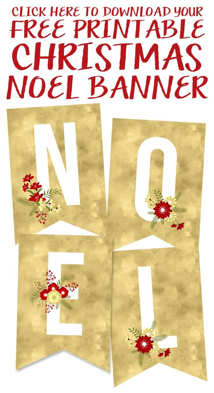 Free Printable Noel Banner | Best Of Pinterest | Pinterest - Free Printable Christmas Banner
