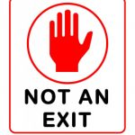 Free Printable Not An Exit Sign | Free Printable   Free Printable Not An Exit Sign