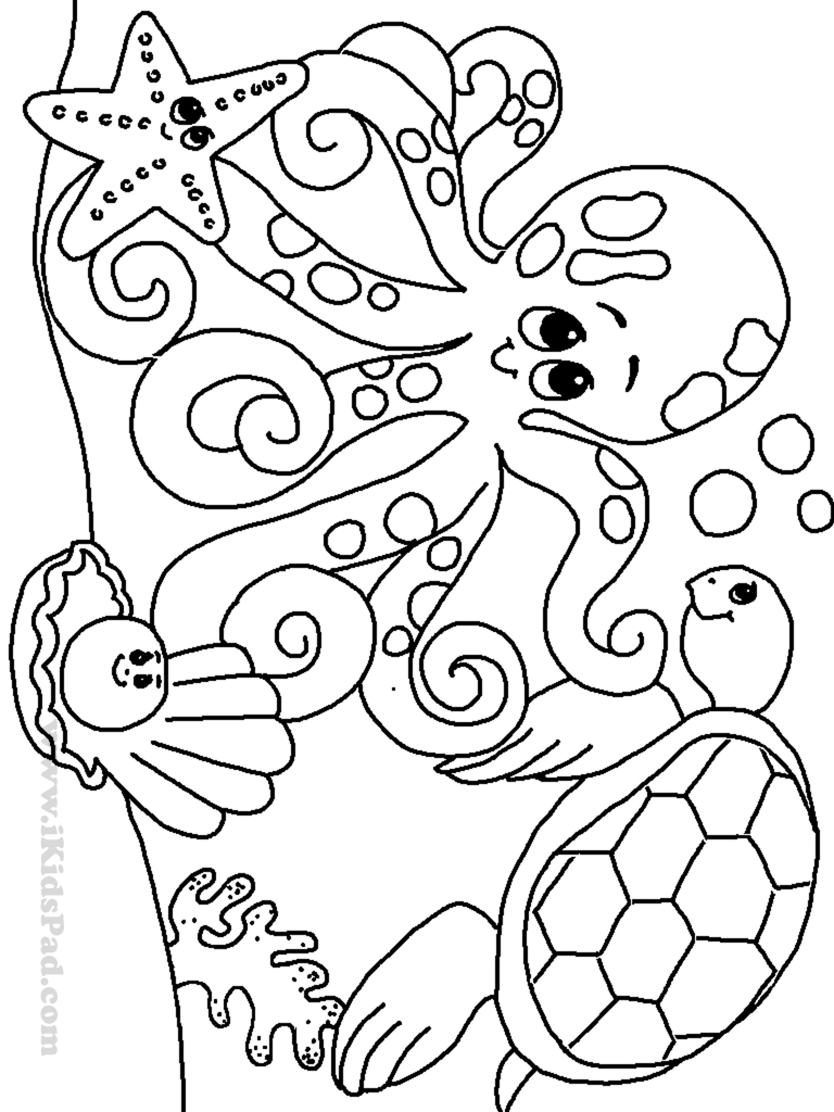 Free Printable Ocean Coloring Pages For Kids, Coloring Pages - Free Printable Color Sheets For Preschool