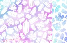 Free Printable Origami Paper – Crystal Galaxy Pattern – Paper Kawaii – Free Printable Patterns