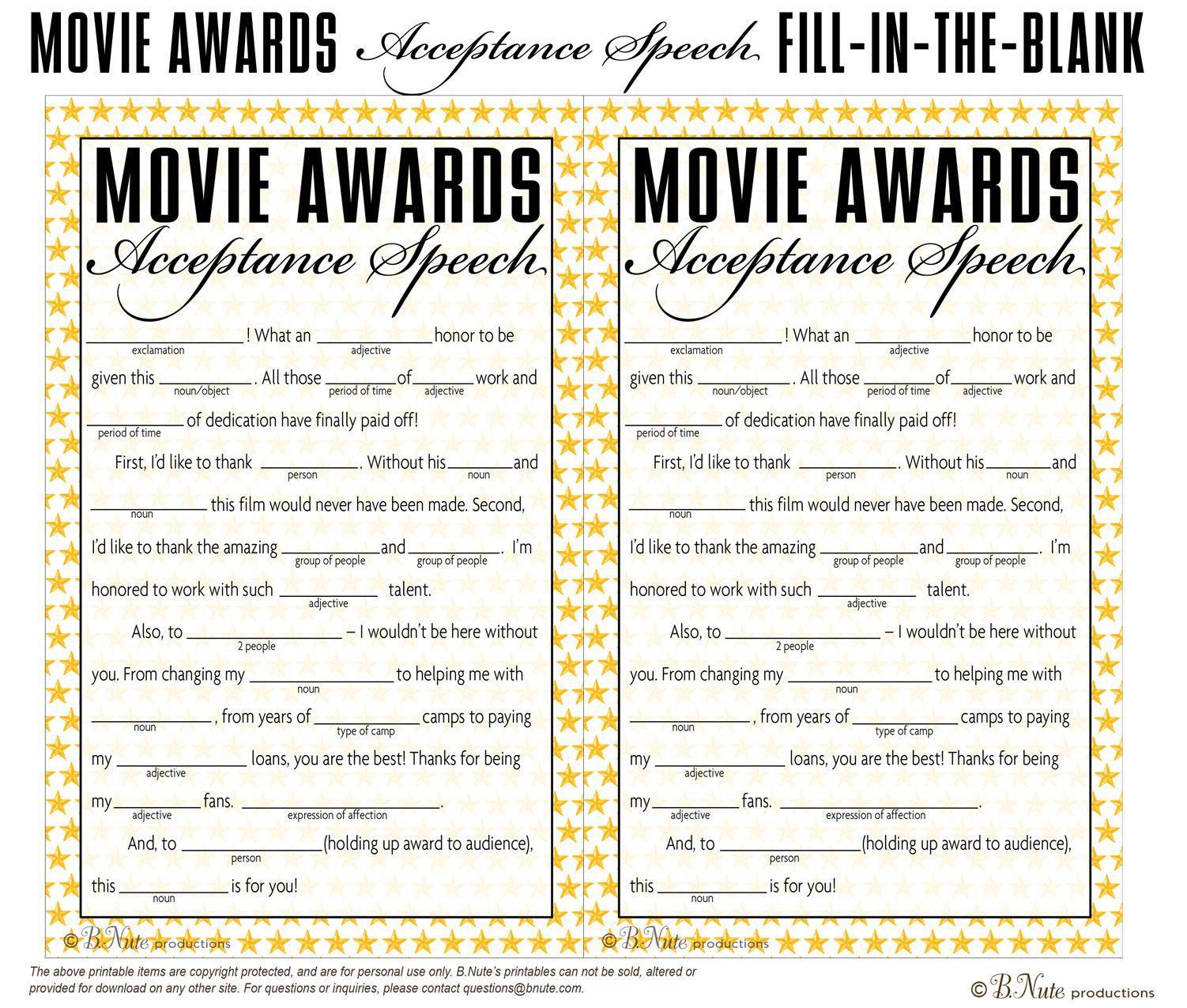 Free Printable Oscar Party Games. Tea Party Games   Oscar Party In - Free Printable Tea Party Games
