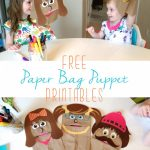 Free Printable Paper Bag Puppets   Free Printable Paper Bag Puppet Templates