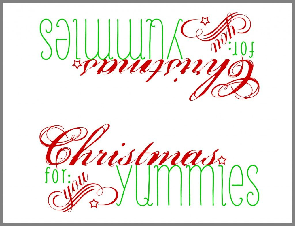 Free Printable: Paper Bag Topper | Winter & Christmas | Christmas - Free Printable Christmas Bag Toppers Templates