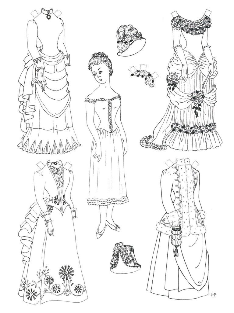 Free Printable Paper Doll Coloring Pages For Kids | Coloring - Printable Paper Dolls To Color Free