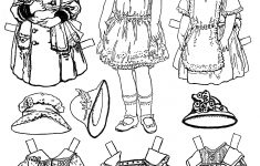 Free Printable Paper Doll Coloring Pages
