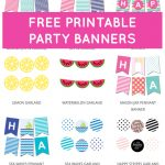 Free Printable Party Banners From @chicfetti | Free Printables   Free Printable Banner Maker