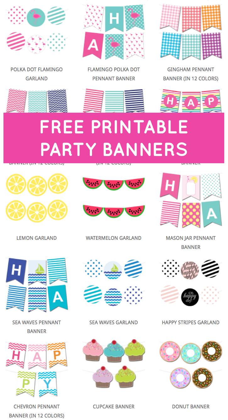 Free Printable Party Banners From @chicfetti | Free Printables - Free Printable Banner Maker