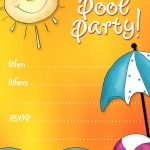 Free Printable Party Invitations: Summer Pool Party Invites   Free Printable Water Park Birthday Invitations