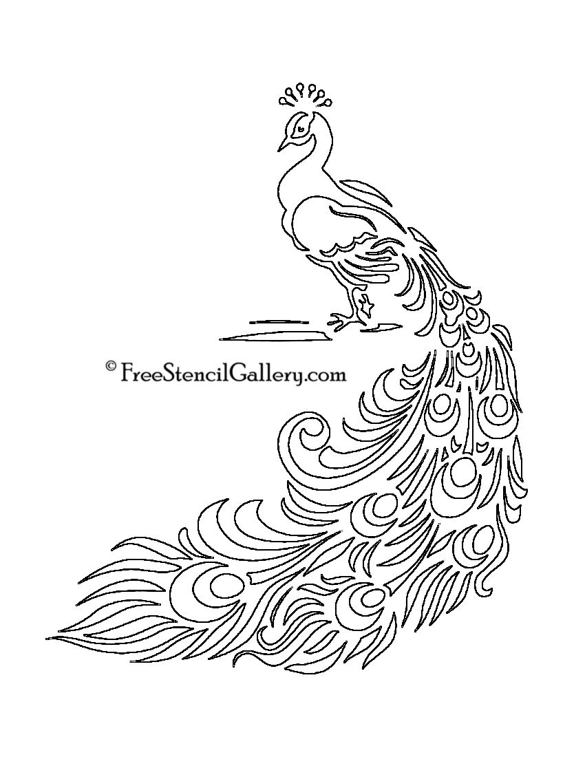 Free Printable Peacock Template | Free Stencil Gallery | Artsy - Free Printable Peacock Pictures