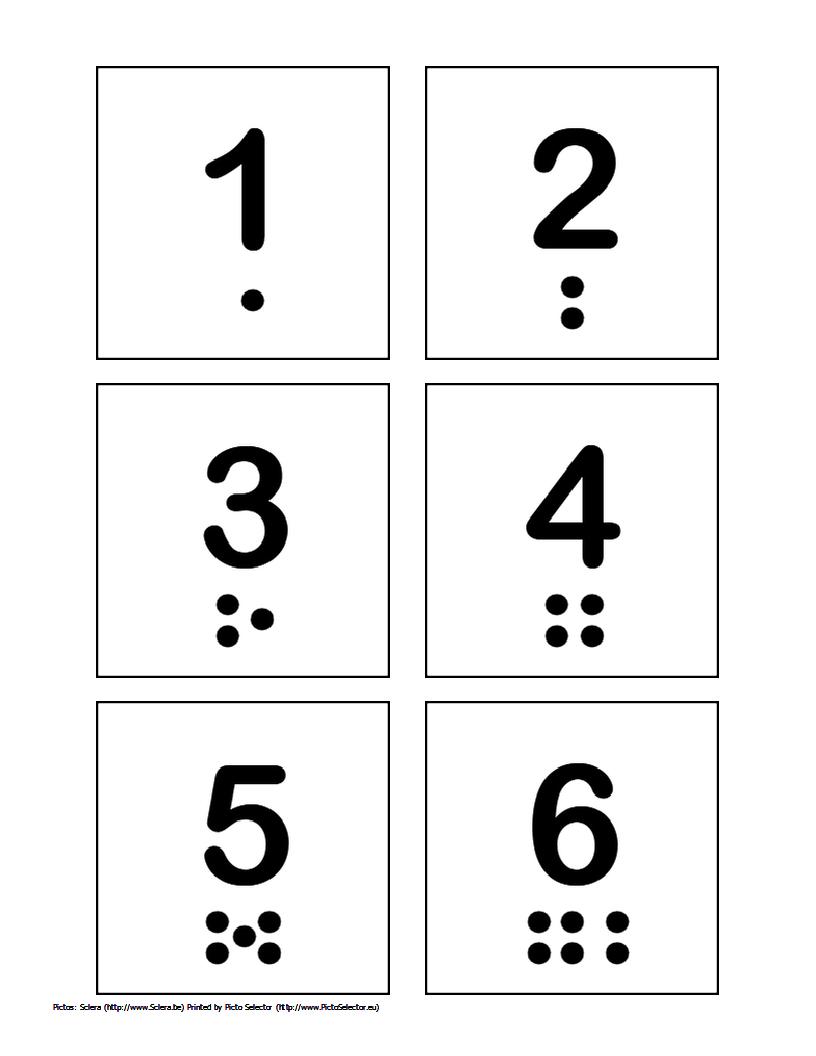 Free Printable Pecs – Numbers 1 Through 10   Wordsofhisheart - Free Printable Numbers