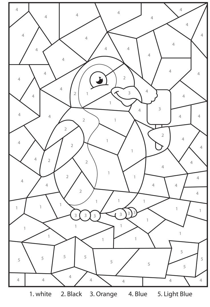 Free Printable Penguin At The Zoo Colournumbers Activity For Kids - Free Printable Activities For Kids
